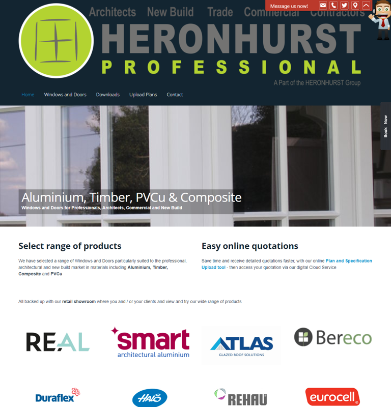 Windowpros.co.uk - Heronhurst Professional Website for Architects Windows and Doors